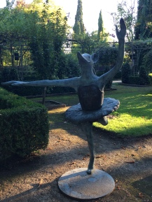 Ballerina duck-mouse on the grounds